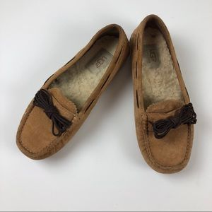 Ugg Bow Moccasin Slipper Cognac/Brown 5.5
